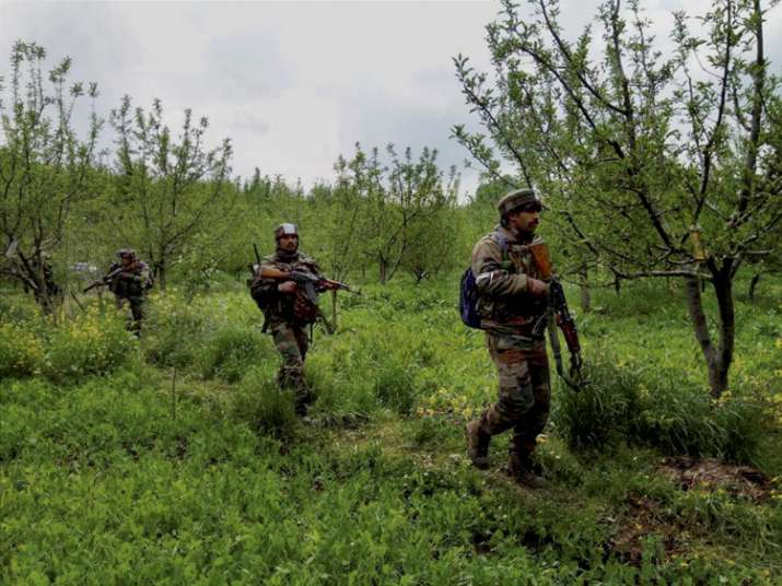 Security forces today conducted a massive op to flush out