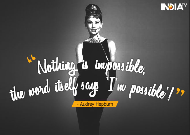 India Tv - 7 timeless quotes by Audrey Hepburn that still make sense about life