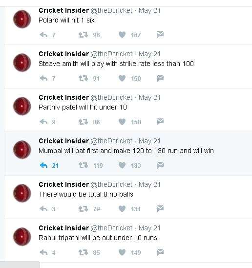 India Tv - A twitter account Cricket Insider predicted MI's win at IPL