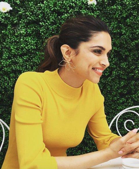 India Tv - Deepika adds sunshine in a yellow dress