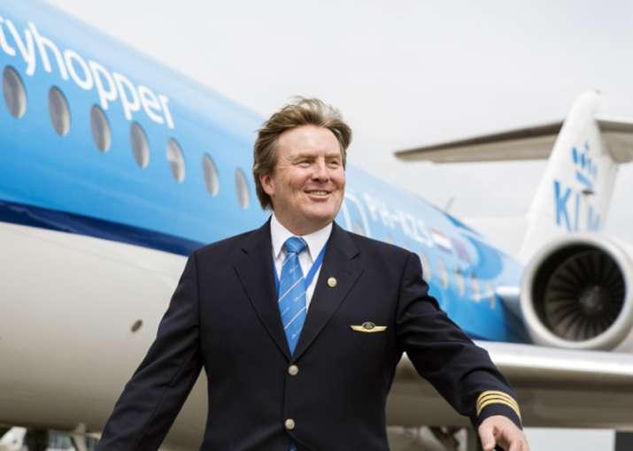The Netherlands' King Willem-Alexander flew KLM planes for