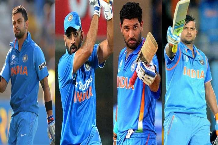 Kohli, Dhoni, Yuvraj, Raina in list of world's top 100