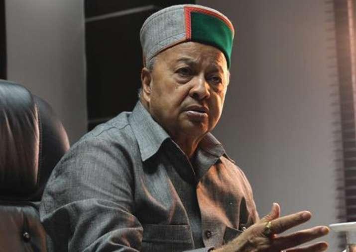 File pic of Himachal Pradesh Chief Minister Virbhadra Singh
