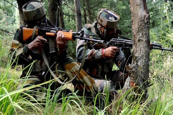 The Indian Army today foiled an attack on a patrol party