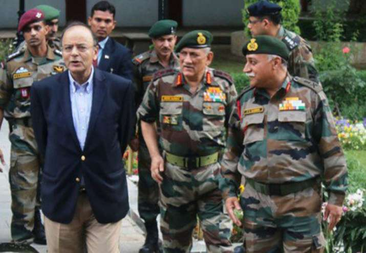 Defence Minister Arun Jaitley was on a one-day Kashmir visit