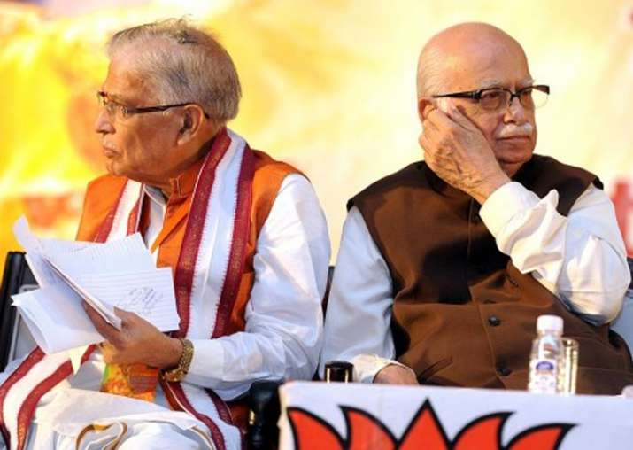 File pic of MM Joshi and LK Advani