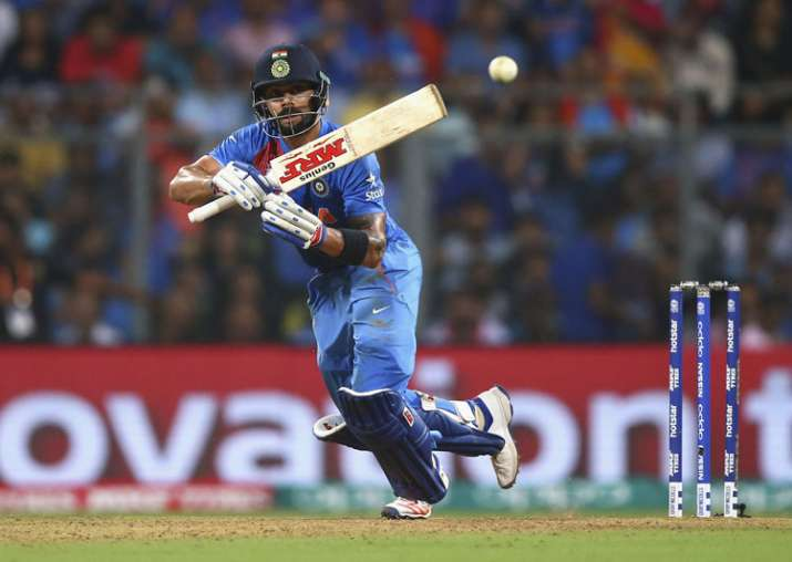 A file image of Virat Kohli in action.
