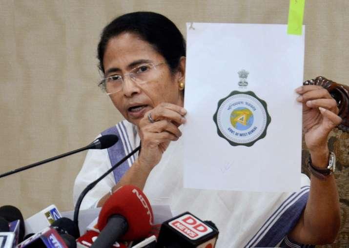 Mamata Banerjee speaks to reporters in in Kolkata