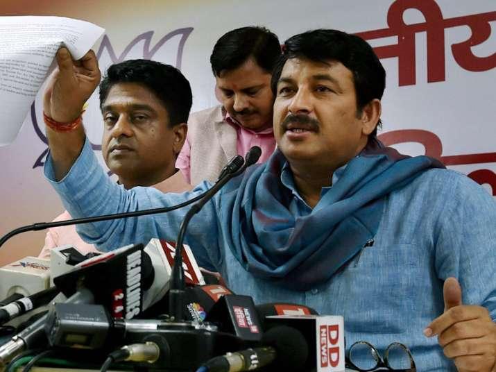 Delhi BJP Manoj Tiwari speaks to media in New Delhi