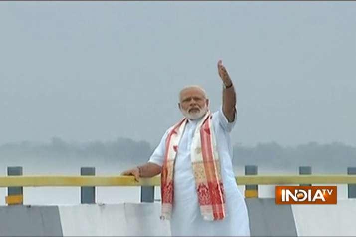 India Tv - PM Modi inaugurates India's largest river bridge