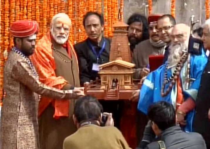 India Tv - PM Modi at Kedarnath on May 3, 2017