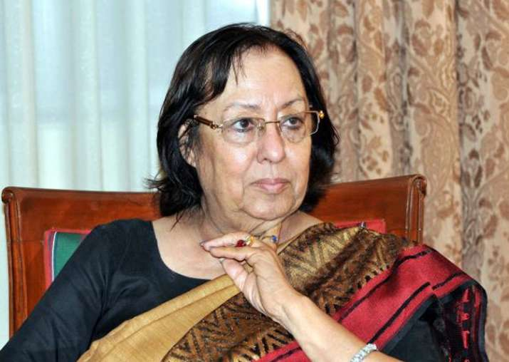 File pic of Najma Heptulla