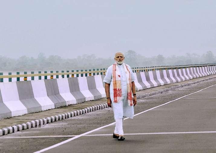 File pic - PM Modi at the newly inaugurated Dhola-Sadia