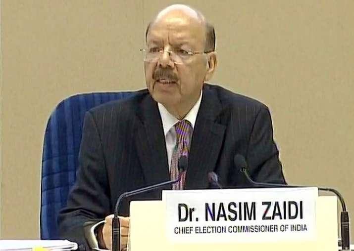 Nasim Zaidi addresses media in New Delhi