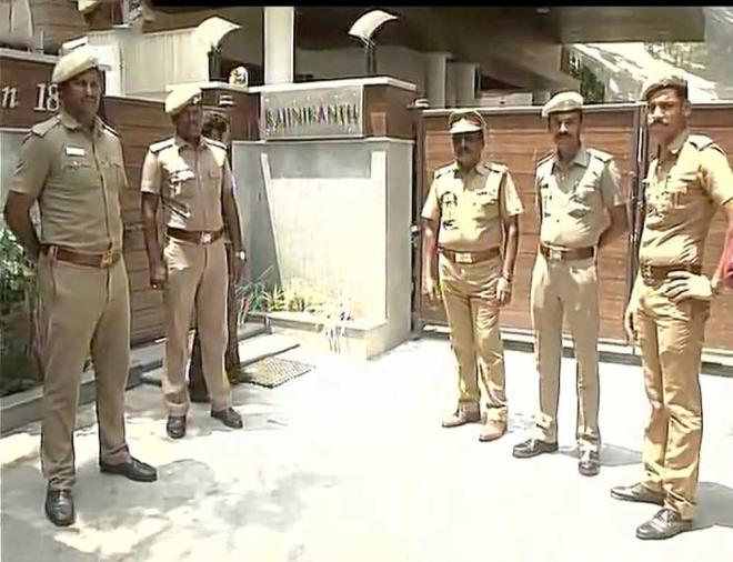 Security beefed up at Rajinikanth's residence after