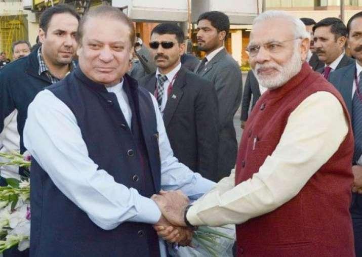 File pic of Nawaz Sharif and Narendra Modi