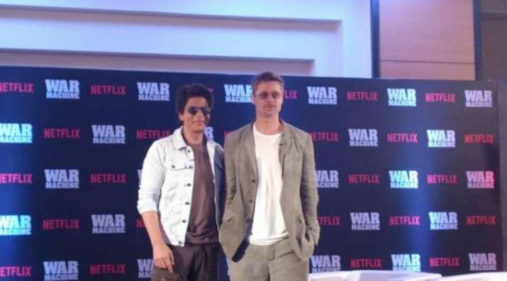 India Tv - Brad Pitt and Shah Rukh Khan