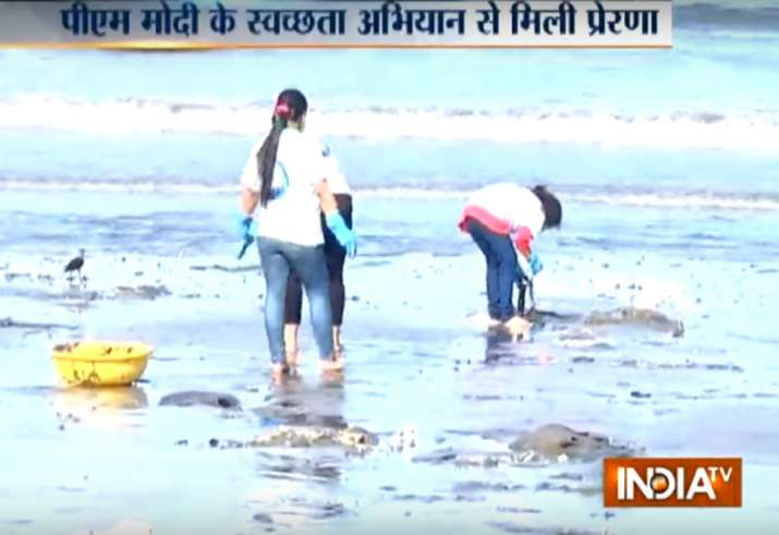 It took 85 weeks for the volunteers to clean the Mumbai's