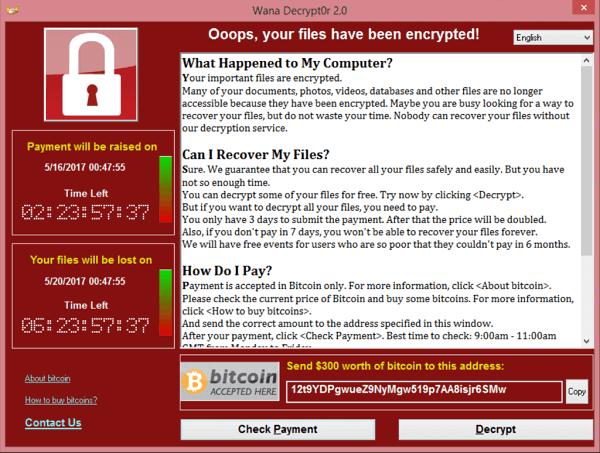 Voorbeeld ransomware virus