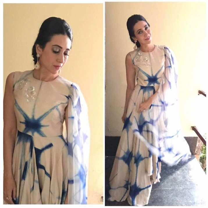 India Tv - Karisma Kapoor blue dress