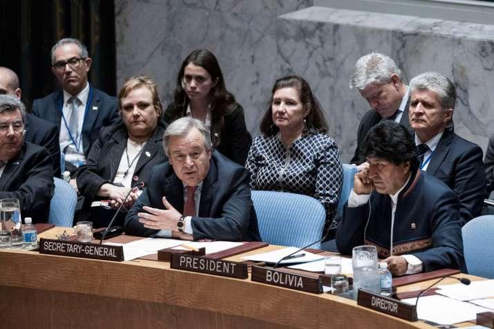 UN Secretary-General António Guterres addresses Security