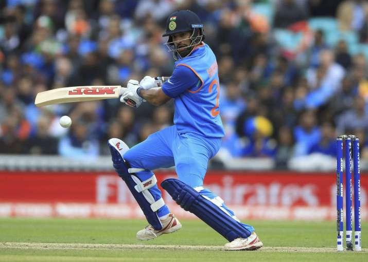 Shikhar Dhawan in action.