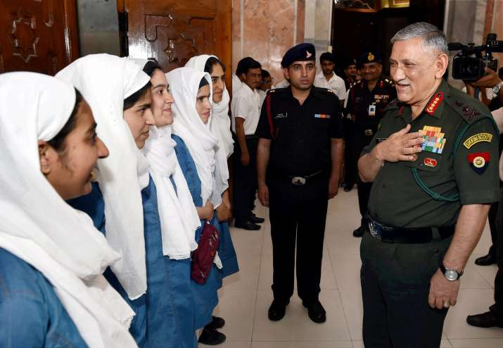 Army Chief General Bipin Rawat met and complimented