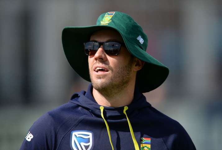 AB de Villiers of South Africa warms up before the one-day