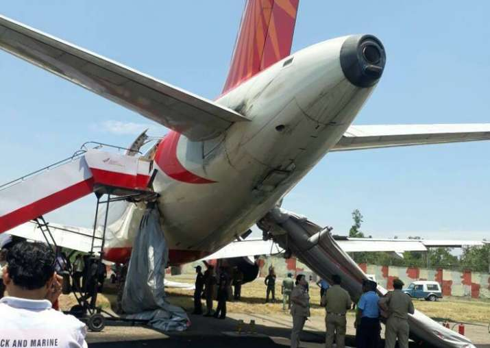 Major accident averted in Jammu as AI flight suffers tyre