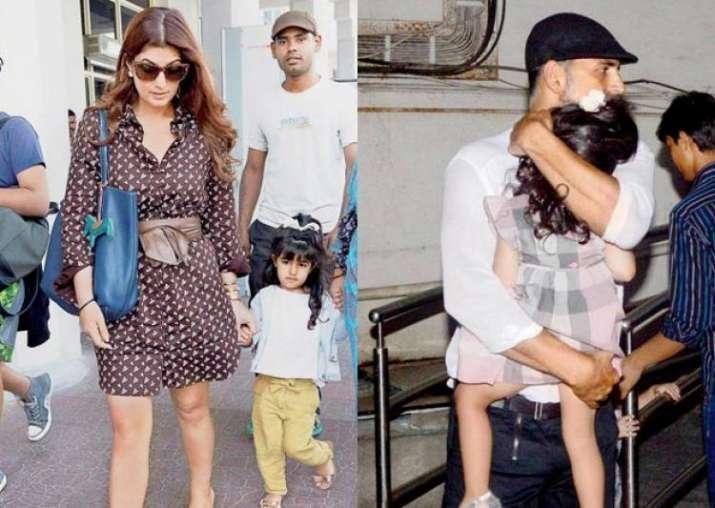 India Tv - Akshay and family