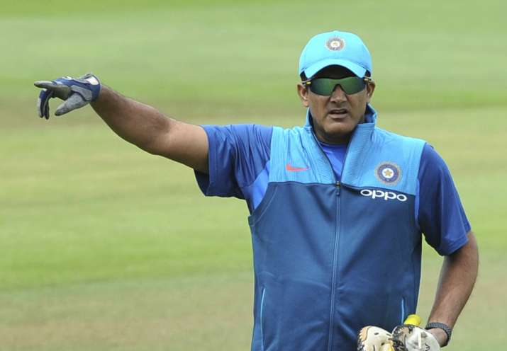 Anil Kumble during practice session
