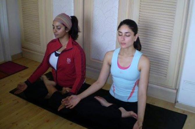 India Tv - Kareena Kapoor yoga