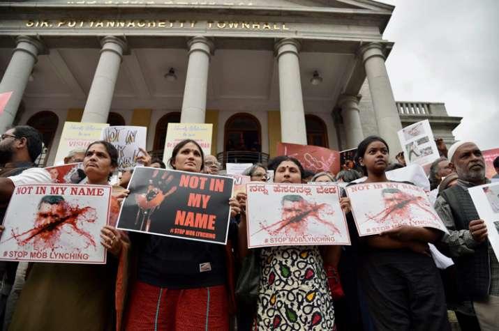 Protest against mob killings in Bengaluru