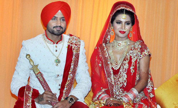 India Tv - Harbhajan Singh and Geeta Basra