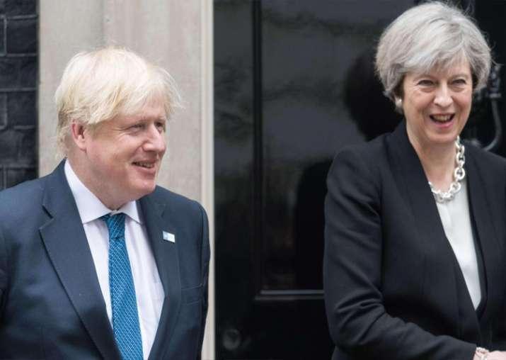 File pic - Boris Johnson denies plot to topple tottering