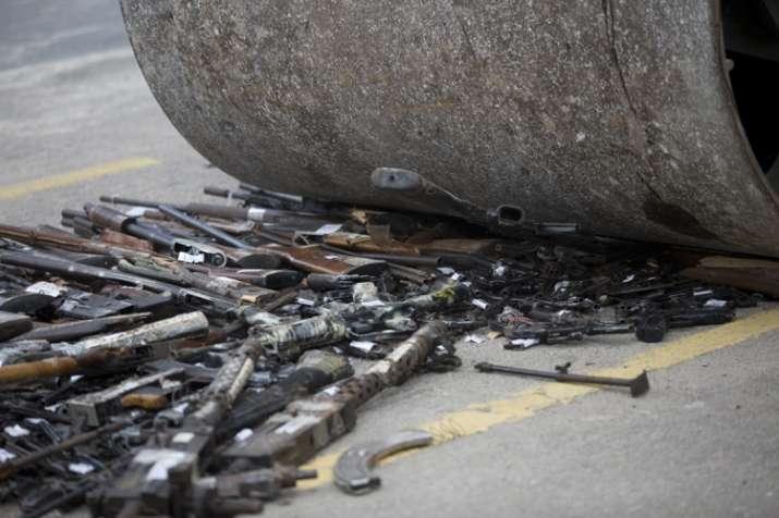 Brazil destroys over 4,000 guns seized from criminals