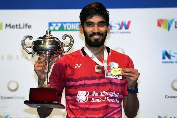 Champion Kidambi Srikanth with Australian Open Super Series