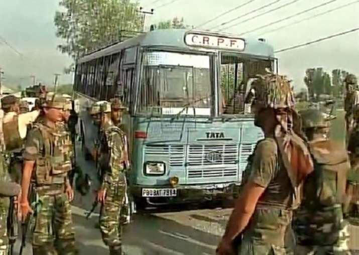File pic - Two CRPF men injured in Kashmir grenade attack