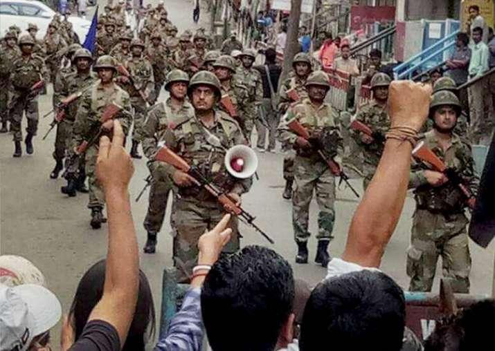 Darjeeling: CRPF troops patrol streets after GJM resorted