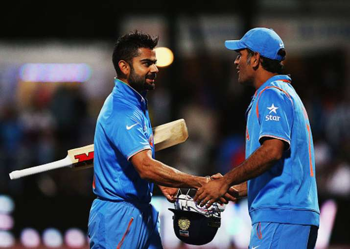 A file image of MS Dhoni and Virat Kohli.