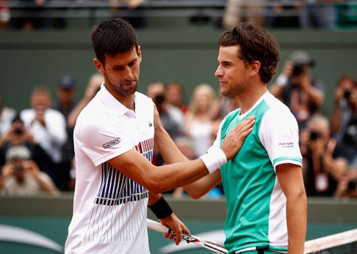 Novak Djokovic reacts after losing in French Open