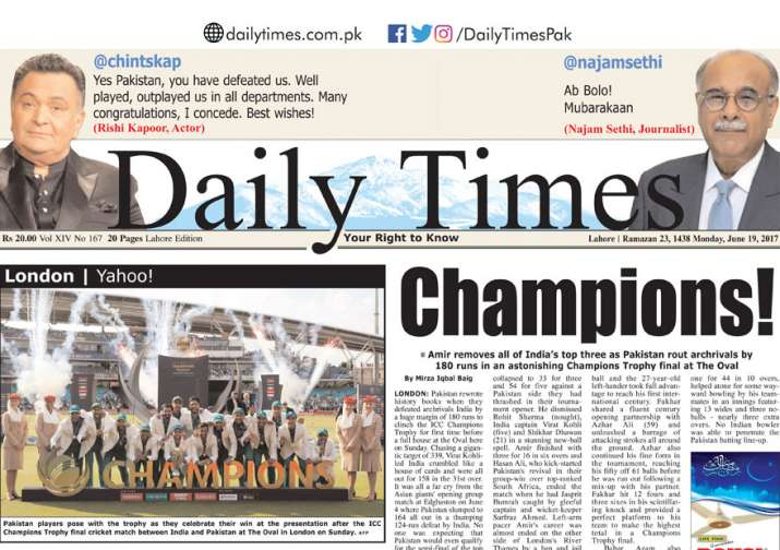 India Tv - The Daily Times e-paper