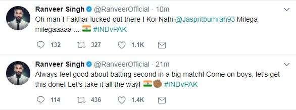 India Tv - Ranveer Singh on ICC Champions Trophy 2017 finals IND v PAK