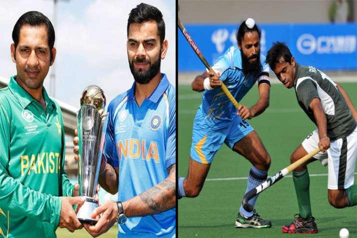 India to take on Pakistan in both cricket, hockey on Sunday