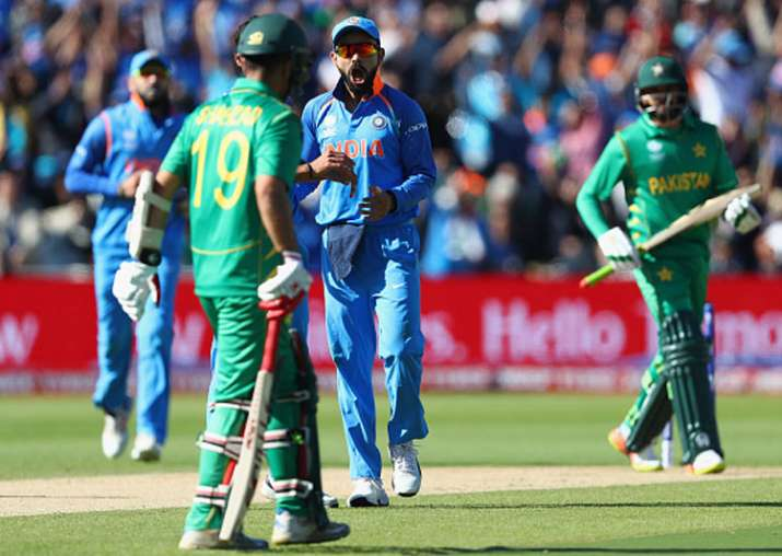 Virat Kohli on action during the match against Pakistan.