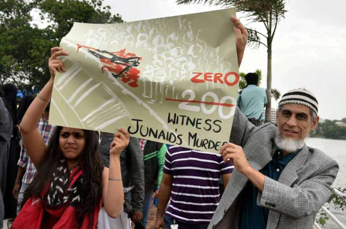 India Tv - Social activists participating the silent protest in Hyderabad