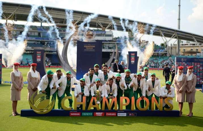 ICC Champions Trophy - Pakistan players celebrating