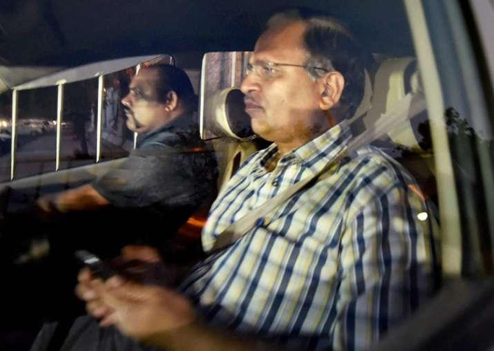 Delhi Minister Satyendar Jain leaves CBI office after being