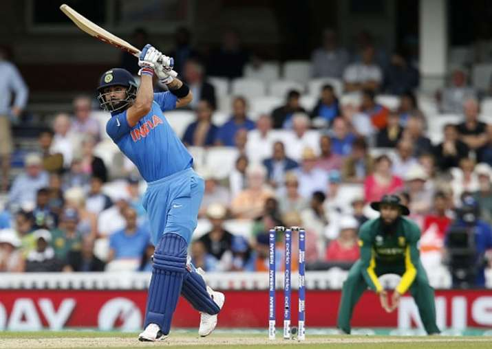 Virat Kohli plays a shot during the game against South
