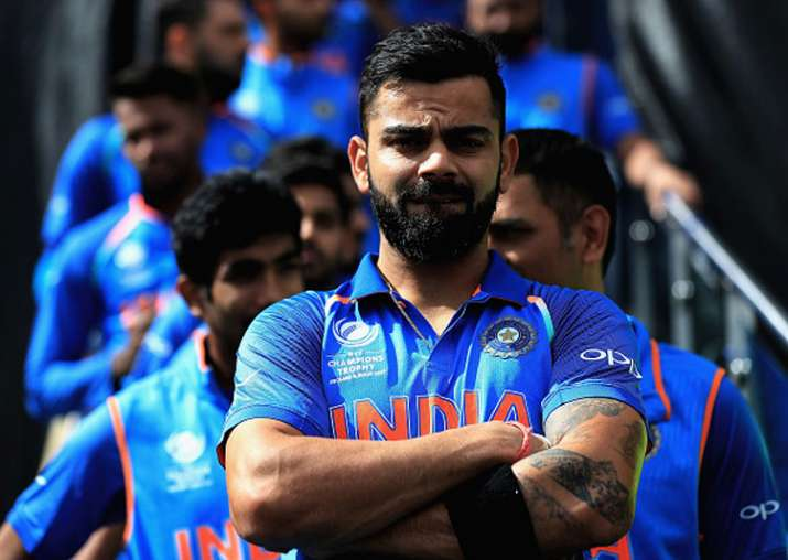 Virat Kohli in action during the game against Pakistan in